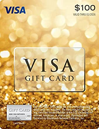 Amazon Com 100 Visa Gift Card Plus 5 95 Purchase Fee