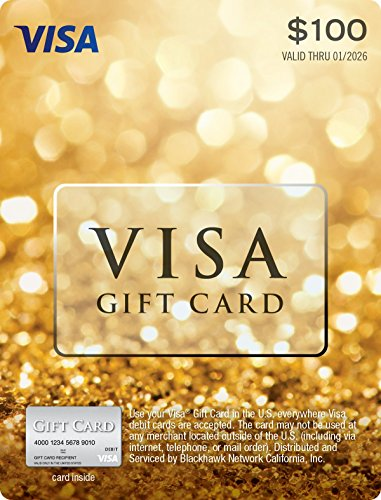 $100 Visa Gift Card (plus $5.95 Purchase (Cash Cards)