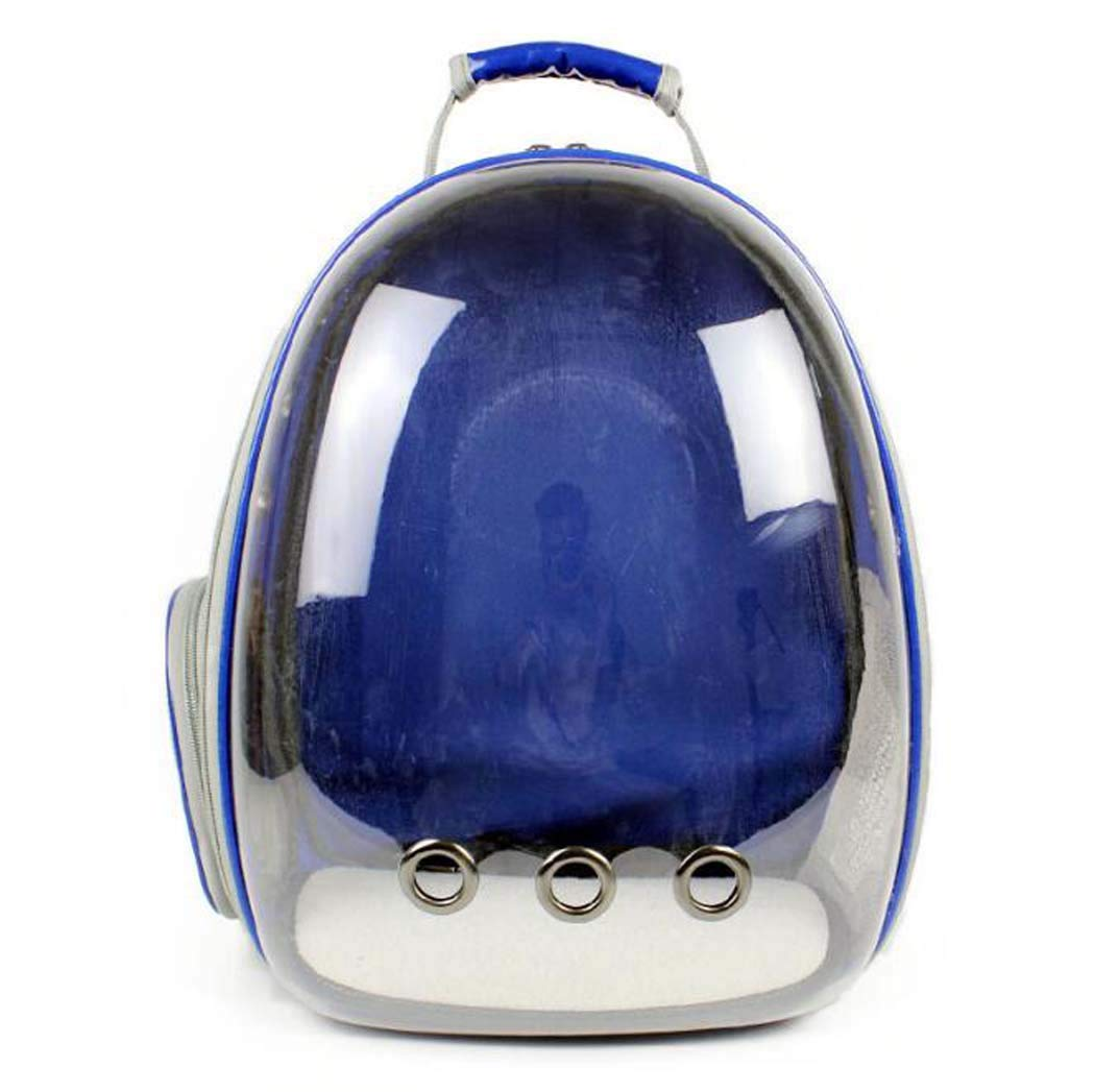 bluee Pet Backpack pet Carrier for Cats Dog Travel Bag Backpack Transparent Half Panoramic Cat Bag,bluee