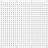 PEGBOARD Panels by WallPeg - Peg Board Plastic Pegboard Kit 24''x24'' (3, White)