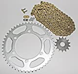 #10: 2003-2014 Yamaha YZ450F YZ450 F 450 F Gold O Ring Chain And Sprocket 13/48 114L