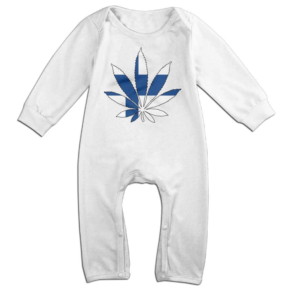 Baby Boy Coverall Finland Flag Weed Leaf Baby Clothes