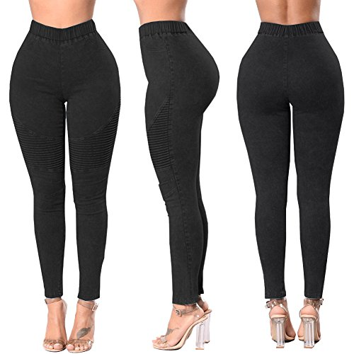 Skinny Crayon Lav Taille Femmes Noir Pantalons lastique Jeans Collants Skinny Ruch Denim Romacci Leggings Haute 5Ufxwx