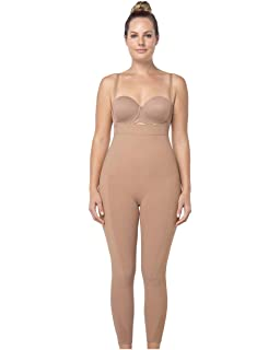 7028f0a5a56 Leonisa Women s Invisible Seamless Compression Bodysuit Control Shaper with  Rear Lift