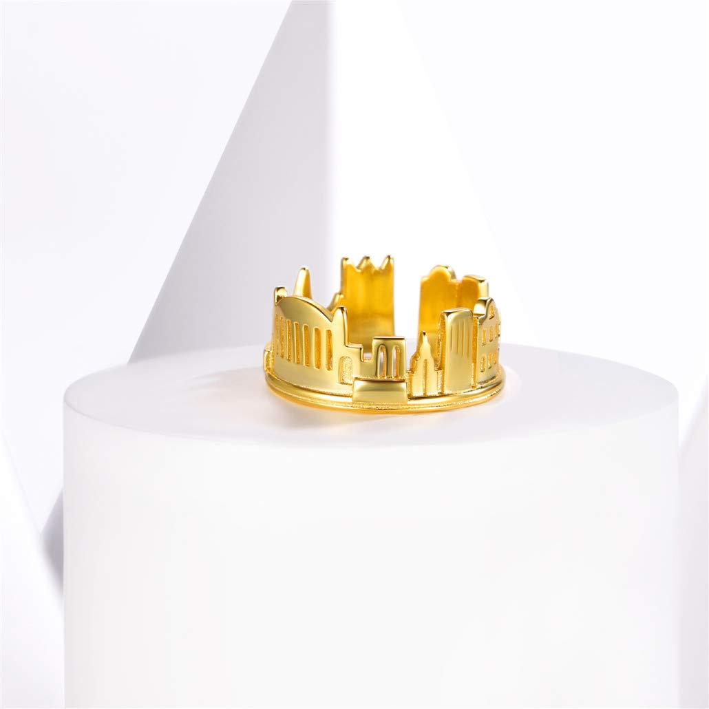 Silvora-Bijoux en Mode-Bague Ouvert R/églable-Argent Sterling 925-Plaqu/é Argent Antique-Mod/èle de cha/îne-R/étro Design-Id/éal Cadeau pour Femmes Filles