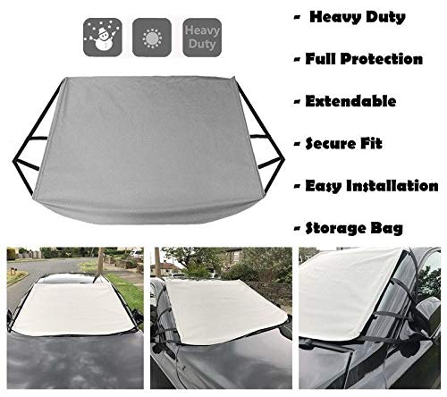 Mr E Saver© Front Heavy Duty Windscreen Frost Snow Ice Sun UV Rays Protector Cover HDWINCO3923