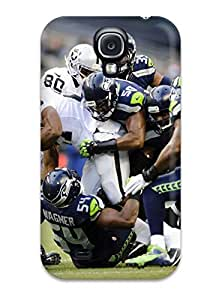 Fashion Tpu Case For Galaxy S4- Seattleeahawks Oaklandaiders Defender Case Cover by lolosakes