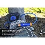 Etekcity Water Filter Straw Camping Water Purification Portable Water Filter Survival Kit for Camping, Hiking, Emergency… 16 SAFETY TESTED: Etekcity water purifier has been tested by German TüV SüD Examination Institute and meet EPA Water Quality Standards. The pouch is FDA Compliant in accordance with 21 CFR 180. 22 to ensure maximum quality and safety ADVANCED FILTRATION DESIGN: Pre-filter to defense large contaminants. Ion-exchange resin to remove chlorine, heavy metal ions, THMs. Activated carbon to eliminate odors. 0. 01Μm hollow fiber UF inline Membrane to filter 99. 9999% waterborne rubbish DEPENDABLE ACCESSORIES: Prepared with a Foldable Water Pouch(480ML, 16oz) with D type hook, an Extension Tube(70cm), a Syringe(back wash device), an Inlet Mouthpiece(pre-filtration device with 1 PP Cotton Pad), additional Four PP Cotton Pads