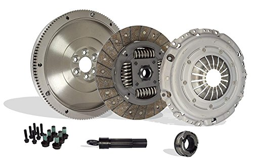 Clutch Kit Works With Audi TT Volkswagen Golf Beetle Jetta Gls Glx Gti Tdi Base Gl Sportline Sport 1998-2006 1.8L l4 GAS DOHC 1.9L L4 DIESEL SOHC Turbocharged (FWD; 5 speed only)