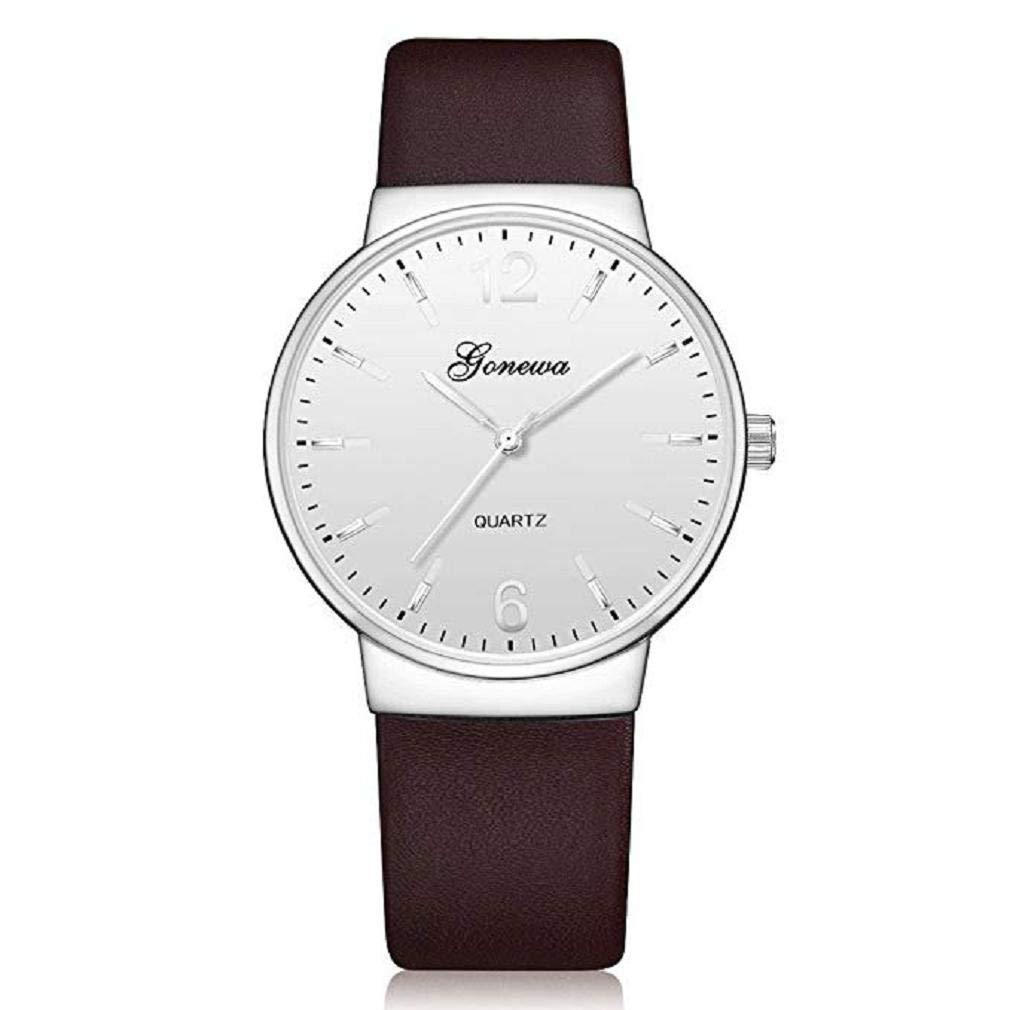 Reloj clásico para Hombres, Scpink Moda Reloj de Cuarzo Simulación única Negocio Casual Vintage Acero Inoxidable Dial Redondo Reloj de aleación Comodidad ...