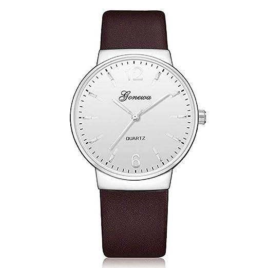 Reloj clásico para Hombres, Scpink Moda Reloj de Cuarzo Simulación única Negocio Casual Vintage Acero