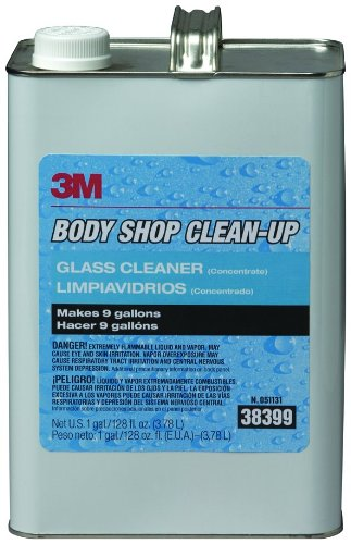 3M 38399 Body Shop Clean-Up Glass Cleaner - 1 Gallon
