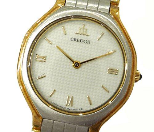 セイコー クレドール レディース腕時計 SS×18KT コンビ クオーツ アイボリー文字盤 [中古] B076P81HLS