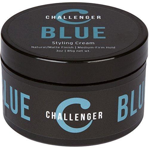 Matte Styling Cream - Challenger Blue - Medium Firm Hold - Best Men's Styling Cream Pomade - Water Based, Clean & Subtle...