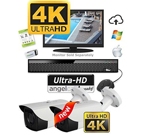 Ultra HD 4K Security Camera System Kit - 2 Outdoor Weatherpr