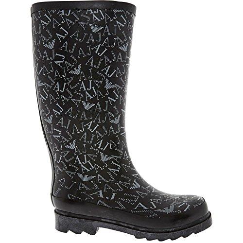 Armani da pioggia Nero Donna Jeans Stivali wwcrWEBq1x
