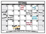 Wall26® Dry Erase Calendar Decal Peel and Stick Monthly Wall Planner (Marker Included) – 24″ x 36″ Picture
