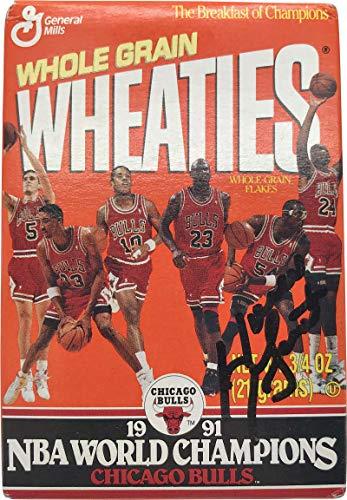 Horace Grant Signed Autographed 1991 Bulls Mini Wheaties Box JSA