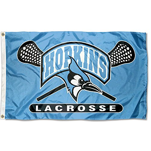 JHU Blue Jays Large Lacrosse 3x5 College Flag by College Flags and Banners Co.