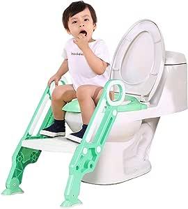 Xiao Jian- Escalera de baño para niños Mujer Hombre Bebé Bebé Escalera de baño Inodoro Círculo Silla de baño para niños 1-3-9 años Baño de niños: Amazon.es: Hogar
