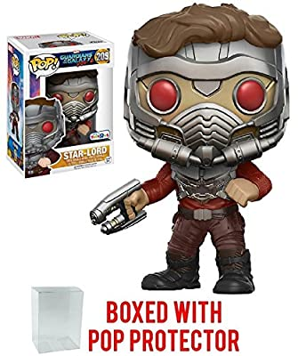 Funko Pop! Guardians of the Galaxy Vol. 2 Star-Lord #209 Toys R Us Exclusive Vinyl Figure (Bundled with Pop BOX PROTECTOR CASE)
