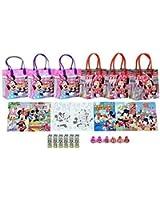 Disney Minnie Mouse Party Favor Set - 6 Packs (42 Pcs)