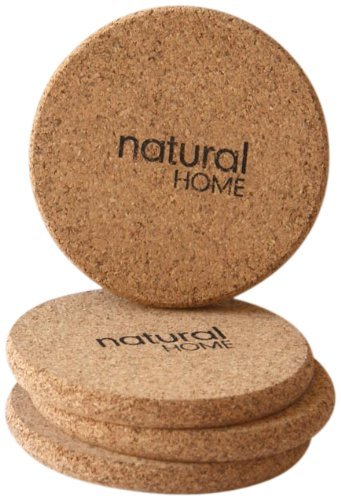 Natural Home Products Wp17 3-3/4'' Cork Coaster Set 4 Count