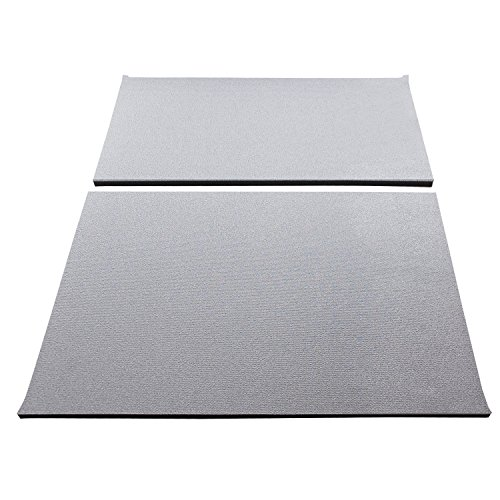 DEI 050144 Boom Mat Sound Deadening Headliner for Jeep Wrangler with Factory Sound Bar (1997-2002) and TJ without Roll Bar Speakers (1997-2006) - Grey