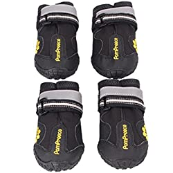 Dumanfs Dog Boots Water Resistant Dog Shoes for Large Dogs and Black Labrador 4 Pcs (6)