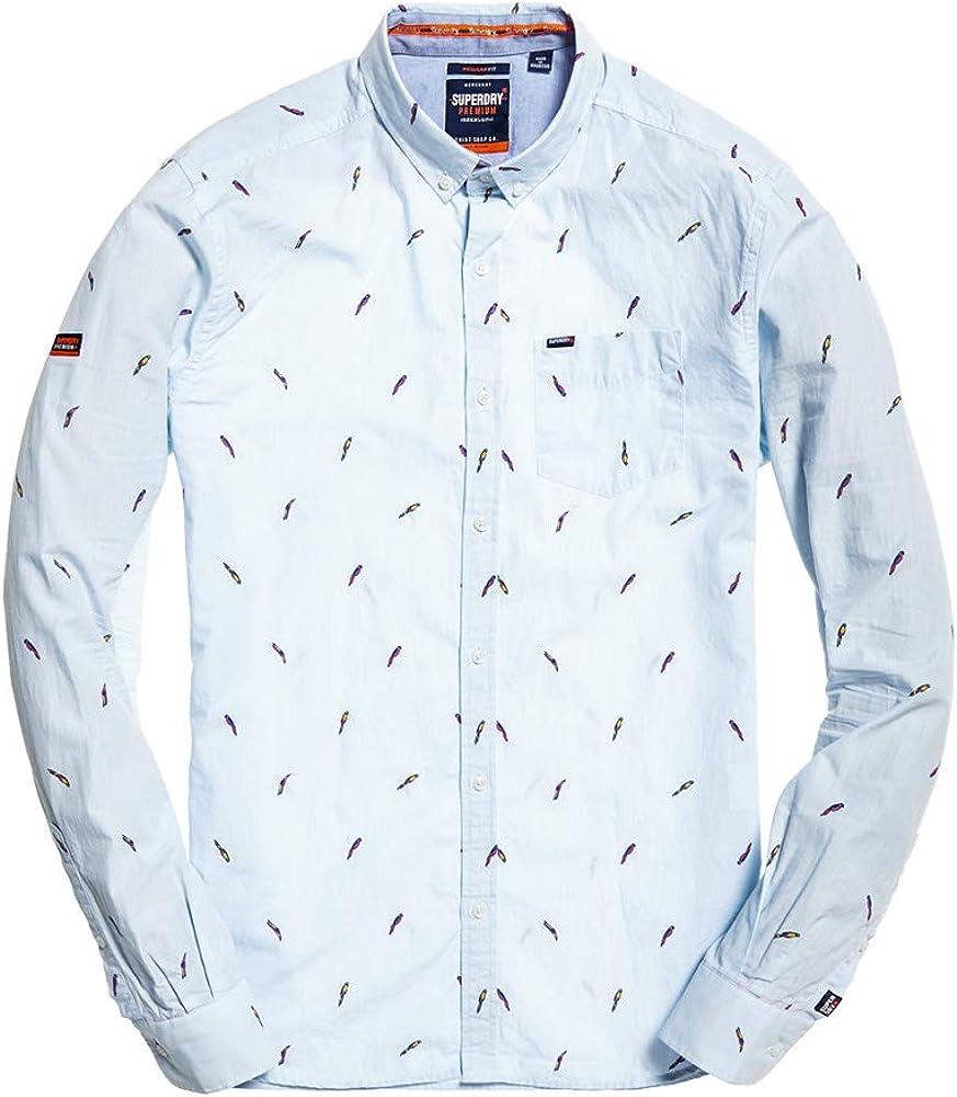 Superdry Premium Shoreditch Shirt Camisa para Hombre: Amazon.es: Ropa y accesorios
