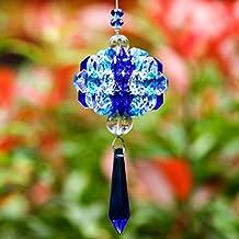 H&D Hanging Chandelier Crystals Ball Prisms Fengshui Suncatcher Rainbow Pendant Maker Car Charm (blue)