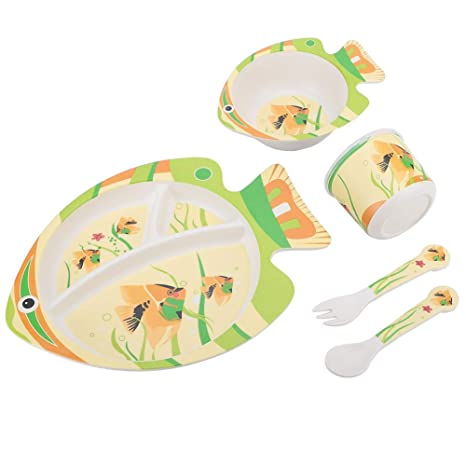 5pcs Set vajilla Infantil conjunto para la alimentación del ...