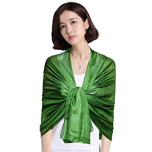 Womens Evening Party Dress Wraps Scarfs Shawls Lime Green Summer Beach Cover Up