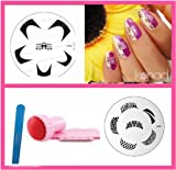 bundle 3 items: Konad Nail Art New image plate M86 + M45 + stamper & scraper + A-viva File