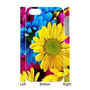 DIY Phone Case with Hard Shell Protection for Iphone 4,4S 3D case with Beautiful flowers lxa#877893