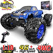 Soyee RC Cars 1:10 Scale RTR 46km/h High Speed Remote Control Car All Terrain Hobby Grade 4WD Off-Road Waterproof Monster Tr