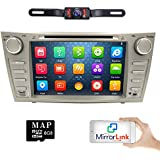 hizpo Rear Camera Included for Toyota Camry 2007 2008 2009 2010 2011 8 inch Indash CAR DVD Player GPS Navigation Navi iPod Bluetooth HD Touchscreen Radio RDS FM+Free US GPS Map Card
