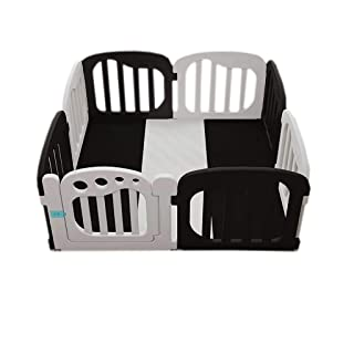 Baby Playpen with a Fitted Floor Mat, Kids Safe Play Yard Home Indoor Outdoor LFY