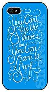 For SamSung Galaxy S5 Mini Case Cover You can't stop the waves but you can learn to surf - black plastic case / Walt Disney And Life Quotes