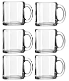 Libbey Crystal Coffee Mug Warm Beverage Mugs Set of (13 oz) (6)