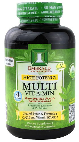 Emerald Labs High Potency Multi Vit-A-Min -- 120 Vegetable Capsules - 2PC by Emerald Laboratories