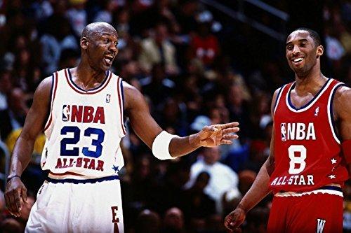 - Cartoon world 0337 Michael Jordan Kobe Bryant Basketball Poster large Wall Print 24x36 - waterproof canvas poster by