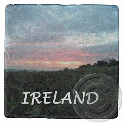 Irishサンセット、Co。Clareアイルランド、。大理石コースター   B07565QMRL