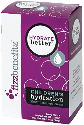 Hydrate Better- Effervescent Electrolyte Powder for Children Adults, Berry Flavor, All Natural
