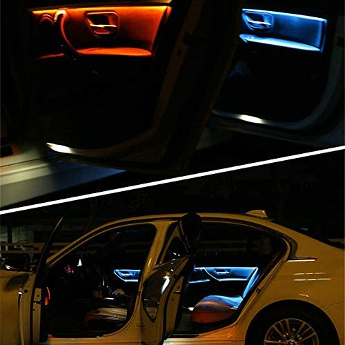 Domilay for 3 Series F30 Neon Interior Door Ambient Lights Decorative Lightings Strip LED Lights Black