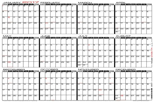 24 Quot Wall Calendars X 36 Quot Large Wet Erase Yearly 2017