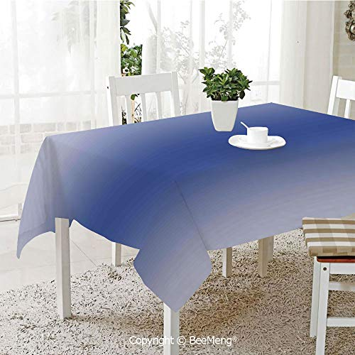 (BeeMeng Large Family Picnic Tablecloth,Easy to Carry Outdoors,Ombre,Birght Clear Skies on a Summer Season Day Inspired Themed Sky Blue Colored Modern Artprint,Blue,59 x 104 inches)