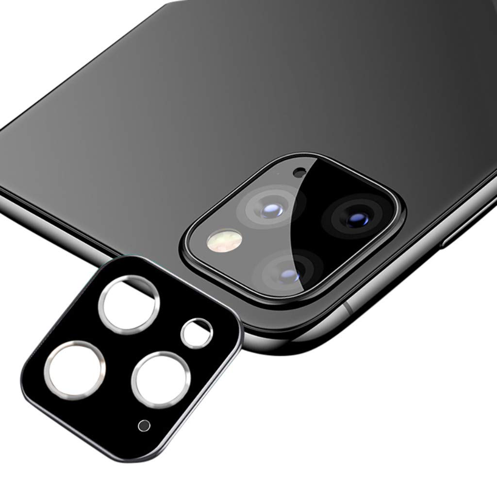 Dowager Camera Lens Ring Cover Protector Compatible with iPhone 11Pro// Pro Max,Ultra Slim Anti-Fingerprint Protective Film,Clear Rear Cam Metal Case,Cell Phone Webcam Back Protective Sticker