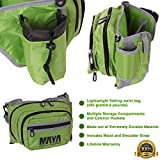 MAYA FISHING Waist Fish Tackle Pouch Bag Shoulder Strap | Anti Tear Fanny Pack Gear 3 Compartments, Zipper Closure & Bottle Holder | Store Lures, Bait, Phone, Hooks, Camera, Snacks & More