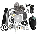 80CC 26' 28' Bike Bicycle Motorized 2 Stroke Cycle Petrol Gas Engine Kit Set(Silver)